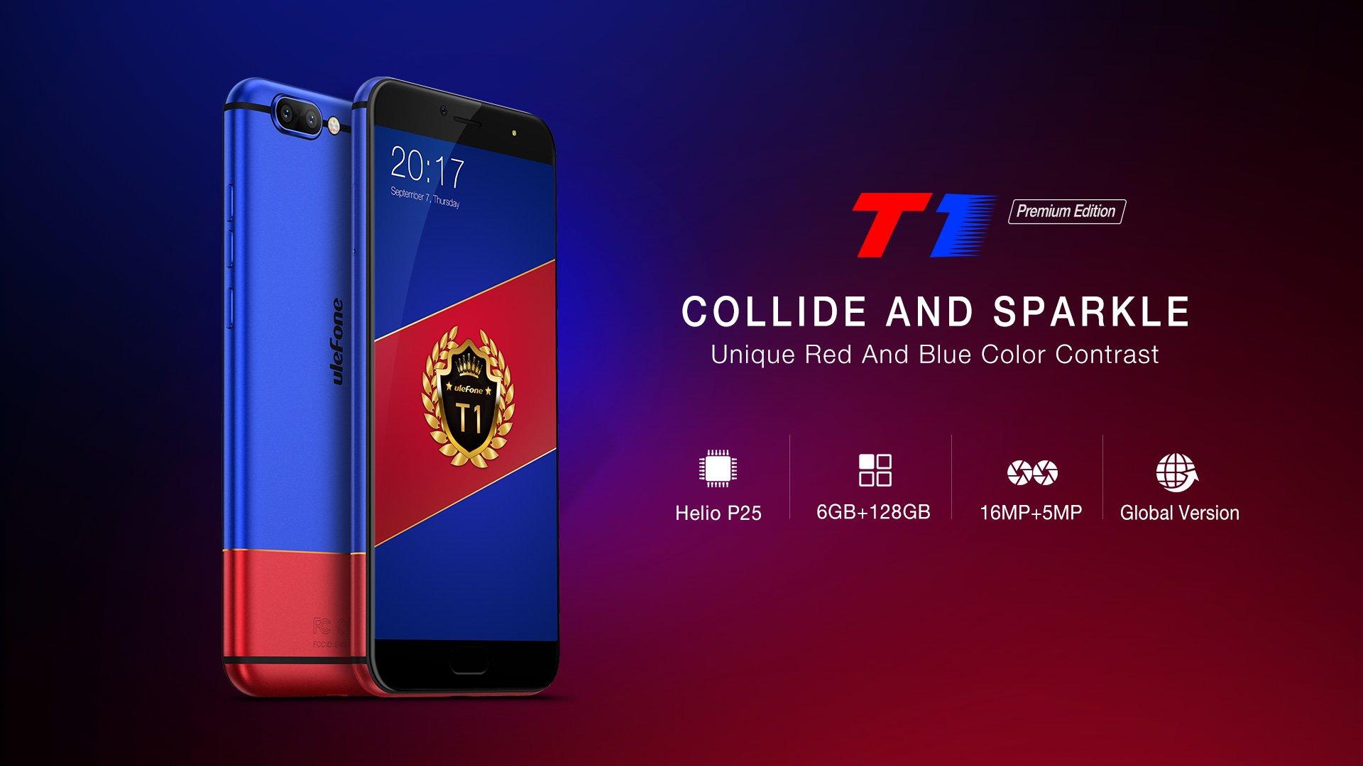 Ulefone T1 Premium Edition z 6 GB RAM i 128 GB pamięci wewnętrznej oficjalnie zaprezentowany 25