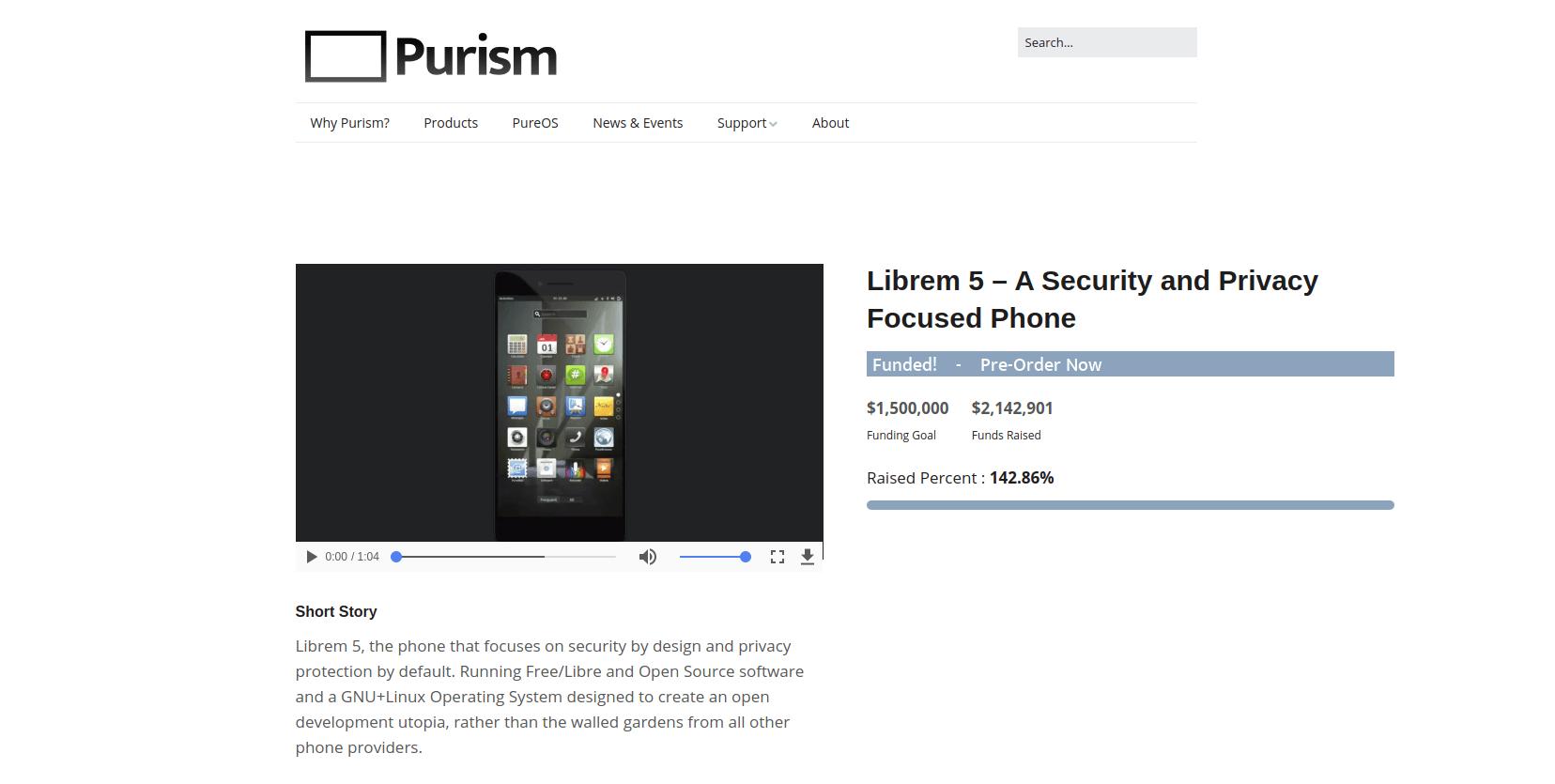 Zbiórka funduszy na projekt Librem 5 - smartfona z prawdziwym Linuxem - właśnie się zakończyła 23