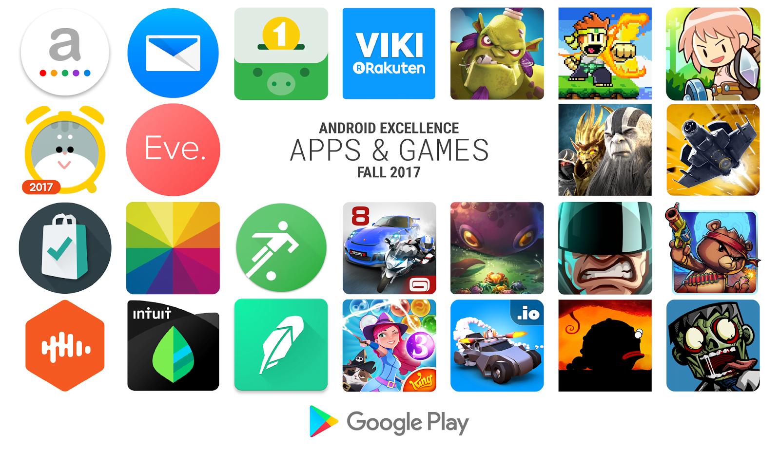 Tabletowo.pl Według Google to najlepsze aplikacje tej jesieni - sprawdźcie zestawienie Android Excellence Aplikacje Google