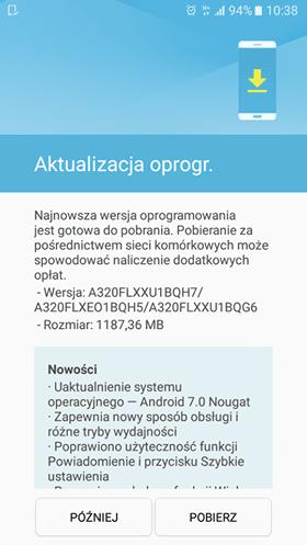 Tabletowo.pl Macie już Androida Nougat na swoich Samsungach Galaxy A3 (2017)? Aktualizacje Samsung Smartfony
