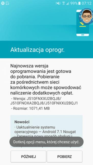 Tabletowo.pl Samsung Galaxy J5 (2016) dostaje Androida Nougat. Pobierajcie Aktualizacje Android Samsung
