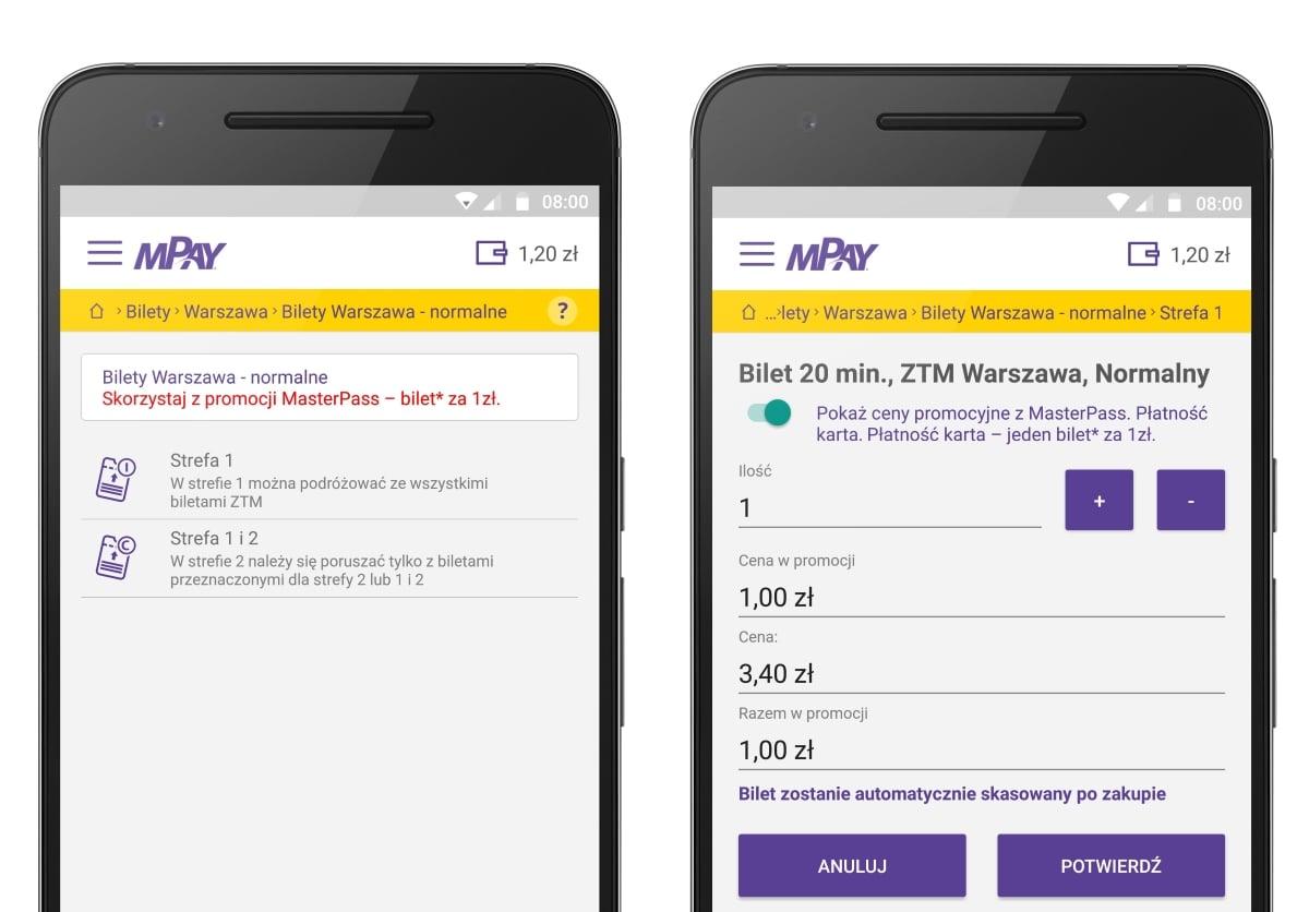 Tabletowo.pl W aplikacji mPay znowu kupisz bilet na komunikację miejską za złotówkę! Aplikacje Promocje