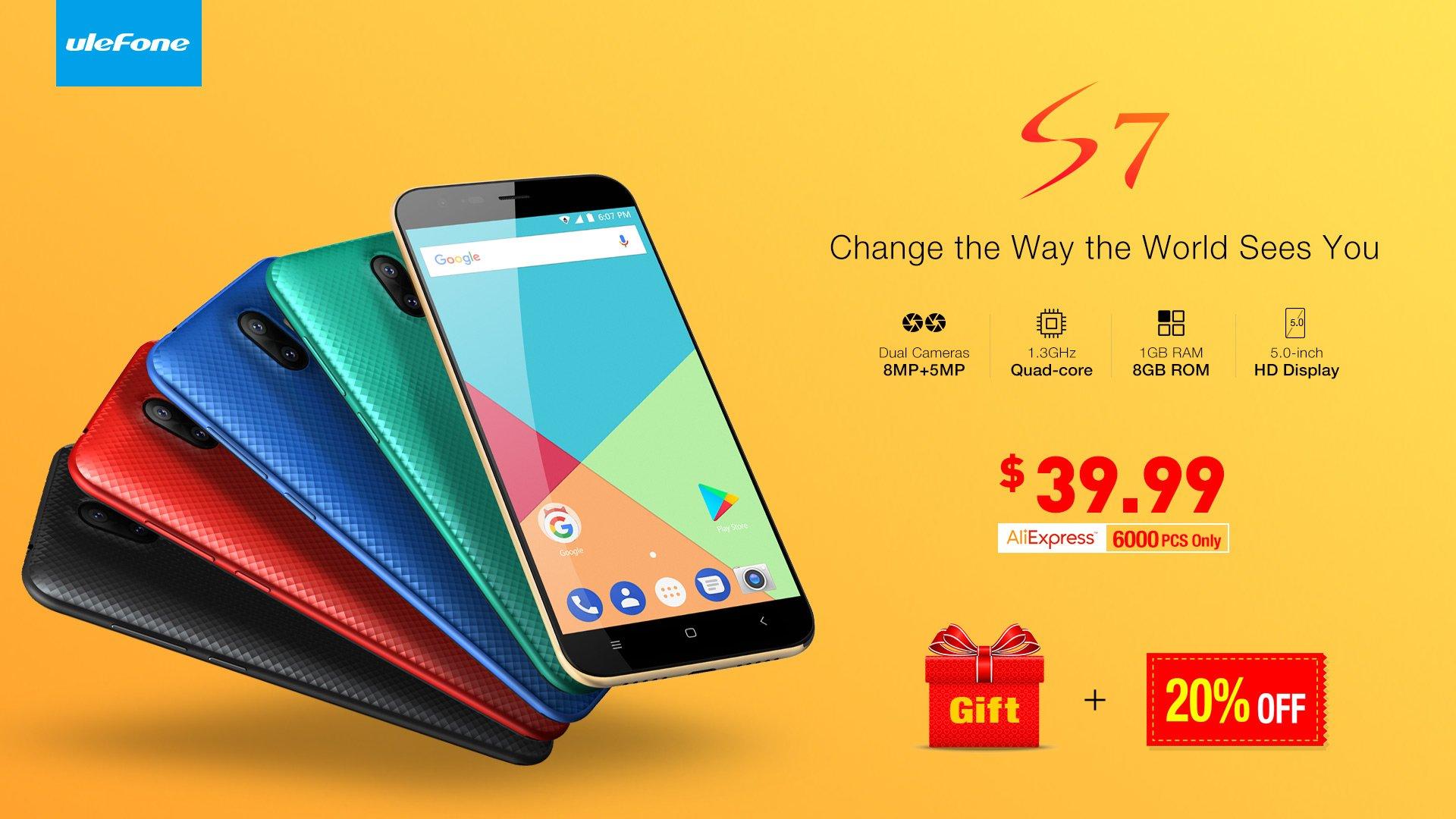 Smartfon za 150 złotych i to z podwójnym aparatem? Ulefone S7 jest dowodem na to, że się da 15