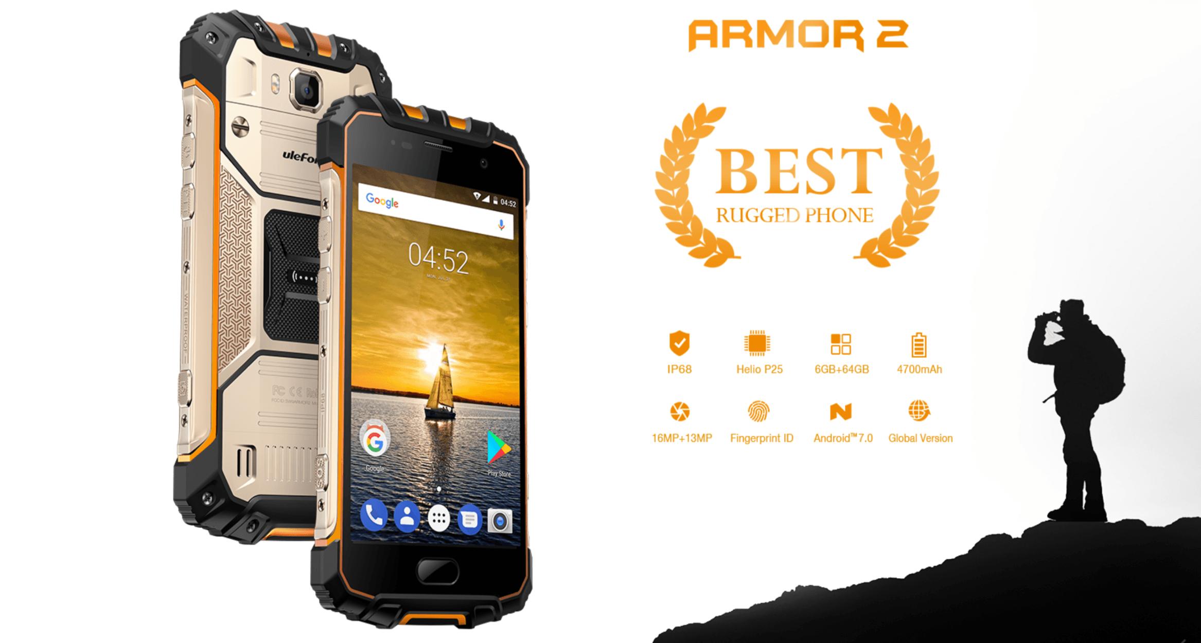 Tabletowo.pl Pancernik od Ulefone w promocji - model Armor 2 taniej na AliExpress Chińskie Promocje Smartfony