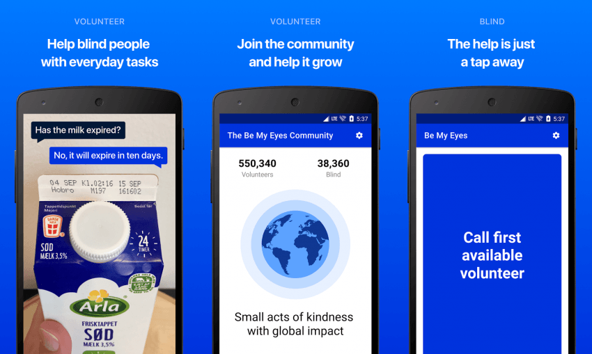 Tabletowo.pl Pożycz swoich oczu - aplikacja Be My Eyes już na Androidzie Android Aplikacje iOS Oprogramowanie Systemy