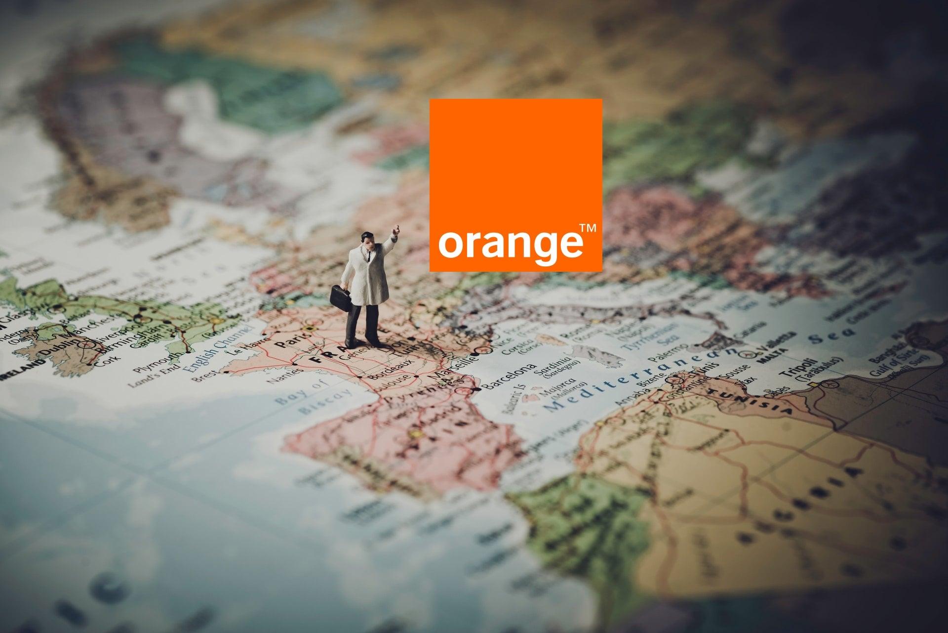 Europa mapa Orange logo