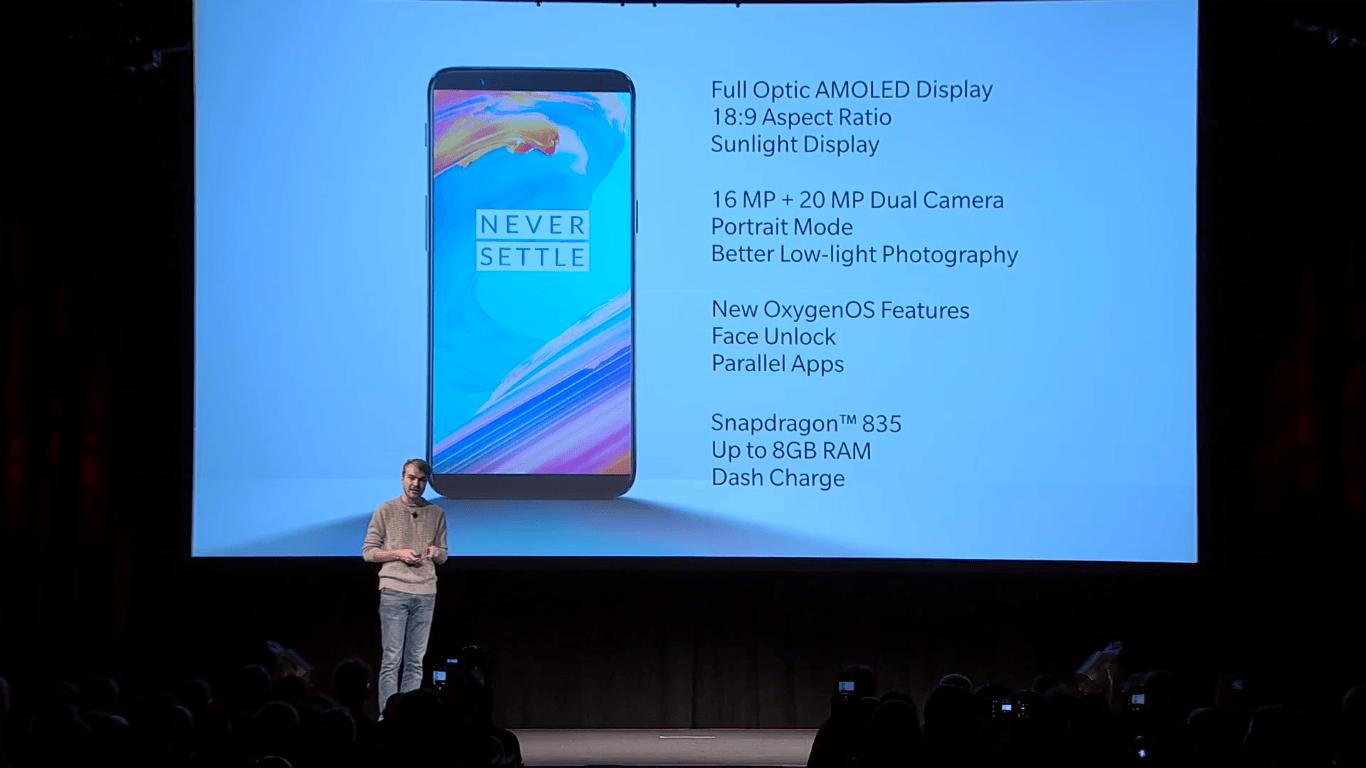 Tabletowo.pl Premiera OnePlus 5T - nowy wyświetlacz, zmodyfikowany aparat i ta sama cena Android Nowości OnePlus Smartfony