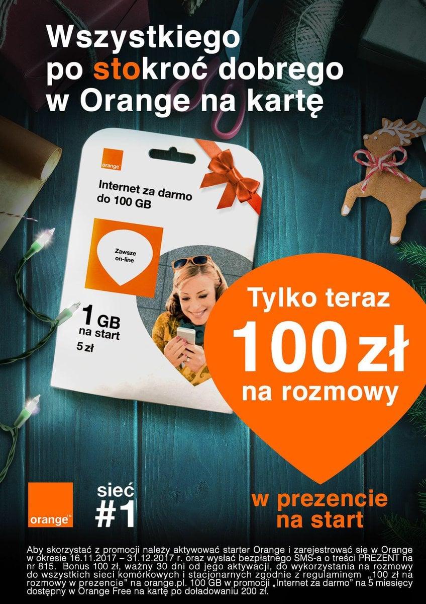 Tabletowo.pl Orange daje nowym użytkownikom ofert na kartę 100 złotych na rozmowy GSM Promocje