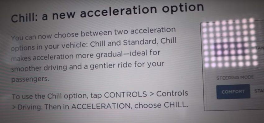 Tesla aktualizuje soft w swoich autach i wprowadza coś dla tych, którzy cenią sobie komfort jazdy 20