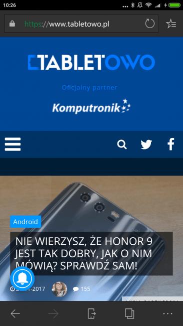 Tabletowo.pl Tego mi brakowało: przeglądarka Microsoft Edge na Androida dostaje synchronizację haseł i tryb nocny Aktualizacje Aplikacje