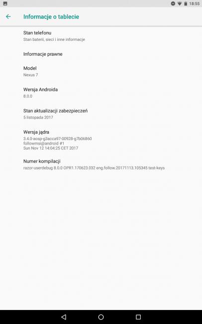 Zainstalowałem Androida Oreo na Nexusie 7 2013. Jak się sprawdza? 4
