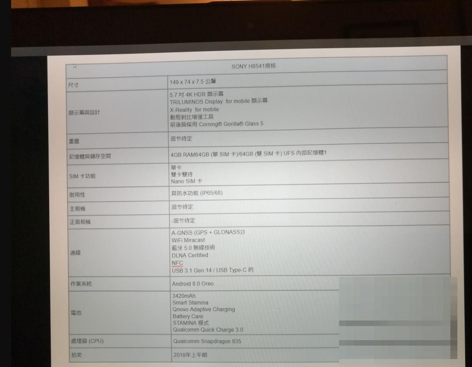 """Tabletowo.pl Nowy high-end Sony zdradza swoją specyfikację. Zapowiada się... intrygująco i """"bezramkowo"""" Android Plotki / Przecieki Smartfony Sony"""