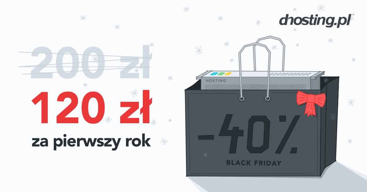 Tabletowo.pl Czarny Piątek w dhosting.pl - rabat 40% dla nowych klientów, a dla stałych dodatek do doładowań Promocje