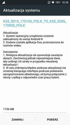Tabletowo.pl Lenovo K6 Note z dystrybucji operatorskiej Plusa dostaje Androida Nougat Aktualizacje Android Lenovo