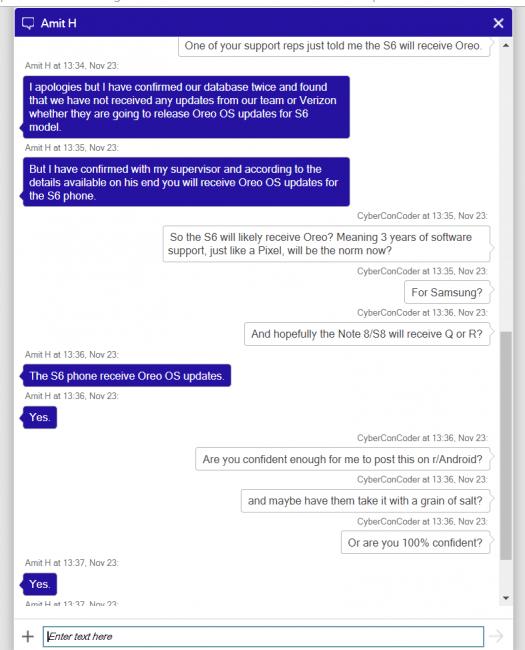 Tabletowo.pl Czy Samsung Galaxy S6 dostanie Androida 8.0 Oreo? Może, może... Aktualizacje Plotki / Przecieki Samsung