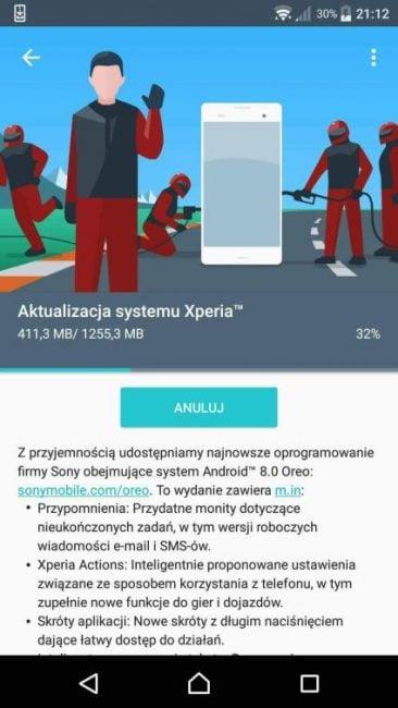 Tabletowo.pl Fajnie, Xperia X Performance otrzymuje w Polsce Androida 8.0 Oreo Aktualizacje Android Sony