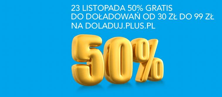 Tabletowo.pl 50% doładowania więcej w Plusie na Kartę i Plushu, ale tylko jutro! GSM Promocje
