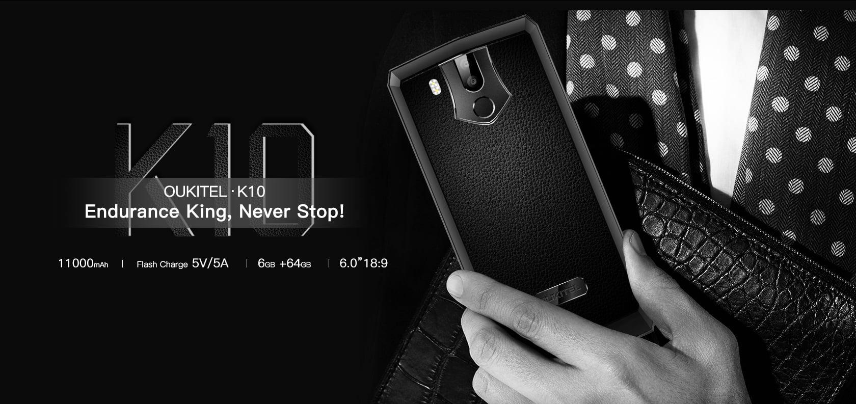 Tabletowo.pl Wincyj miliamperogodzinów!!11! Oukitel K10 zaoferuje baterię o pojemności aż 11000 mAh! Android Chińskie Smartfony
