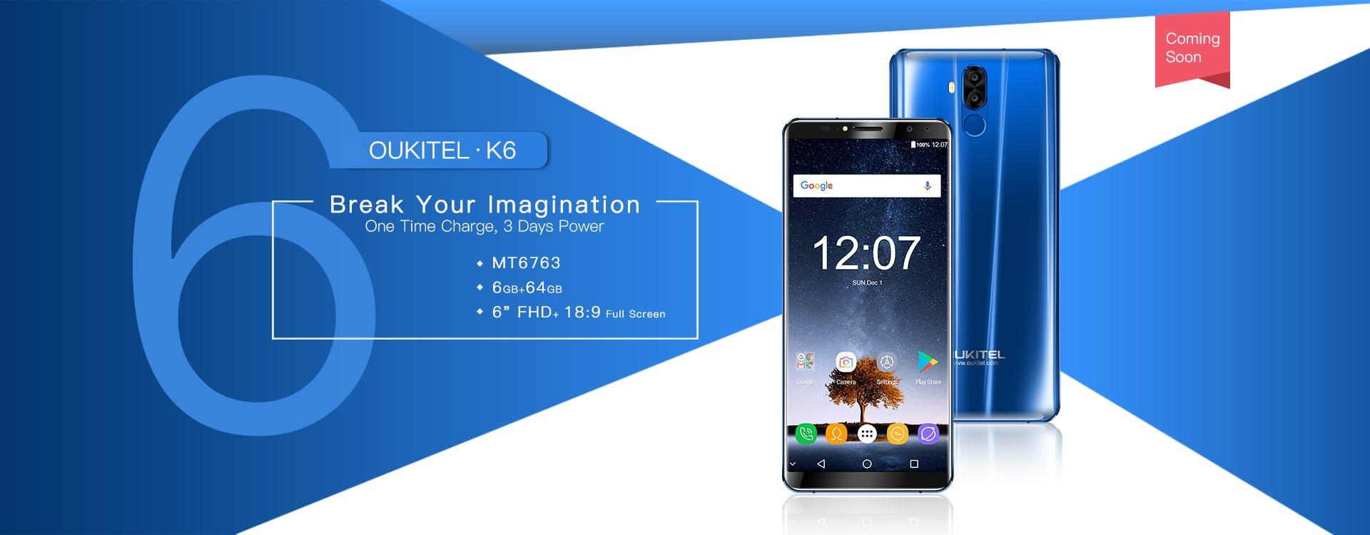 """Tabletowo.pl Oukitel K6 nadchodzi. Producent nazywa go """"nowym killerem"""" Android Chińskie Smartfony"""
