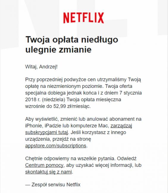 Tabletowo.pl Zmiany w Netflixie - będzie sporo drożej dla użytkowników AppStore Aplikacje Apple iOS Kultura Wideo