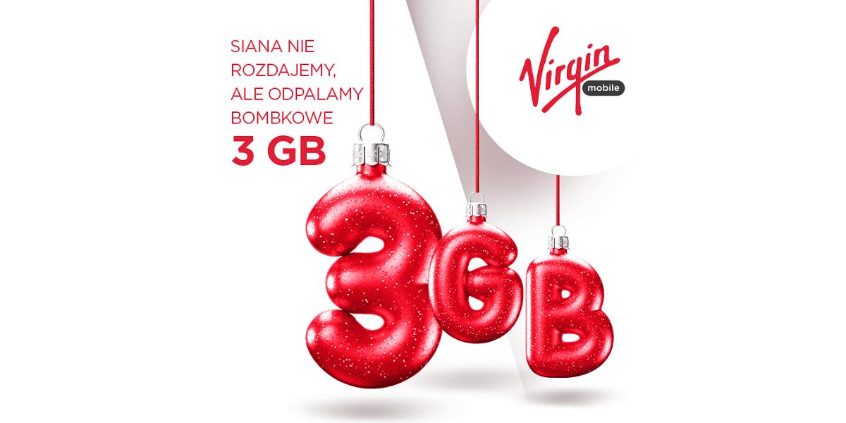 Tabletowo.pl Virgin Mobile zadba o to, żeby nie brakło Ci internetu w święta, bo da Ci pakiet 3 GB za friko GSM Promocje