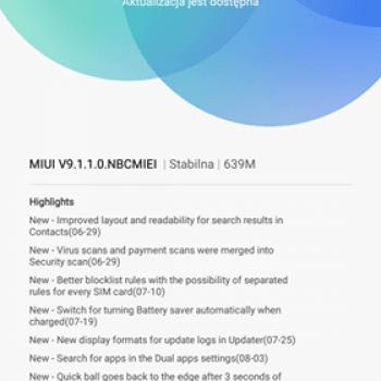 Na to czekaliście: Xiaomi Mi Max dostał aktualizację do MIUI w wersji 9 21