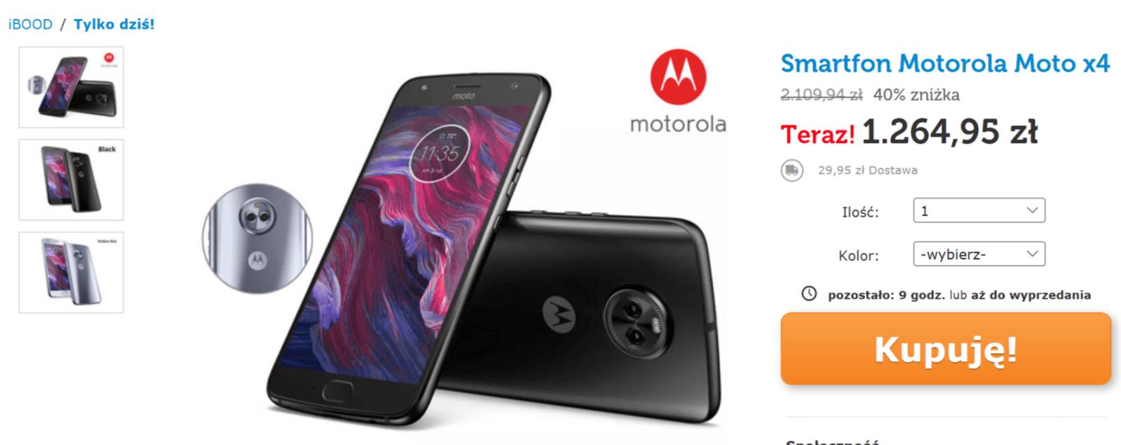 Tabletowo.pl Motorola Moto X4 z 4 GB RAM i 64 GB pamięci wewnętrznej za mniej niż 1300 zł. W tej cenie się opłaca Motorola Promocje Smartfony
