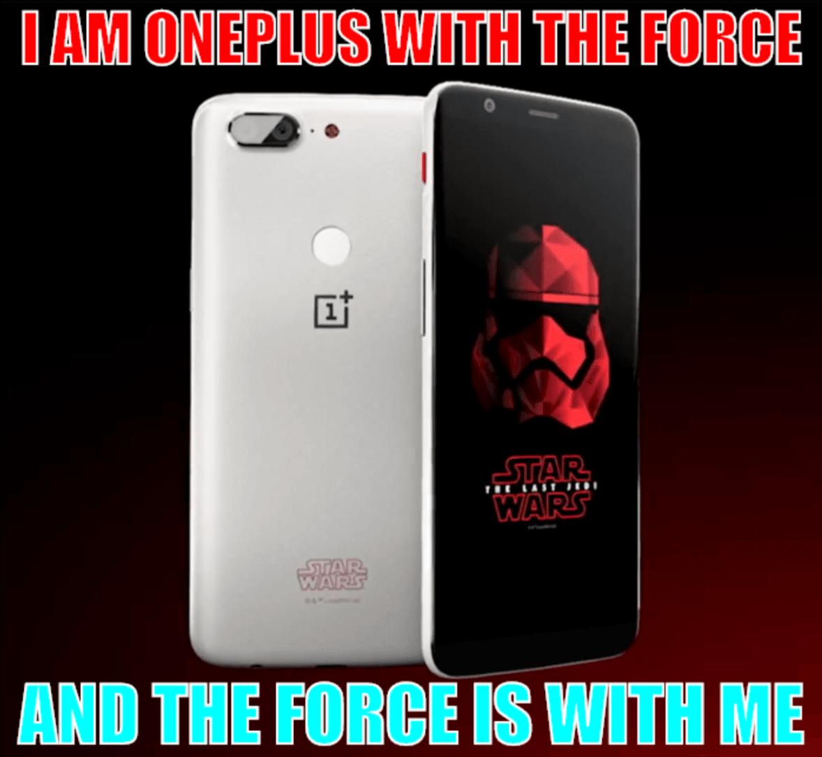 Tabletowo.pl Moc w nim będzie silna, a on będzie silny Mocą - specjalna edycja OnePlus 5T Star Wars OnePlus Smartfony