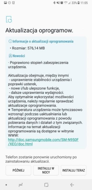 Tabletowo.pl Są i one - nowe poprawki bezpieczeństwa dla Galaxy Note 8 Aktualizacje Android Samsung Smartfony