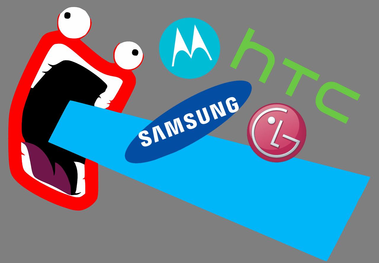 """Tabletowo.pl """"My nie spowalniamy telefonów jak Apple"""" - krzyczą teraz producenci smartfonów z Androidem HTC LG Motorola Samsung"""