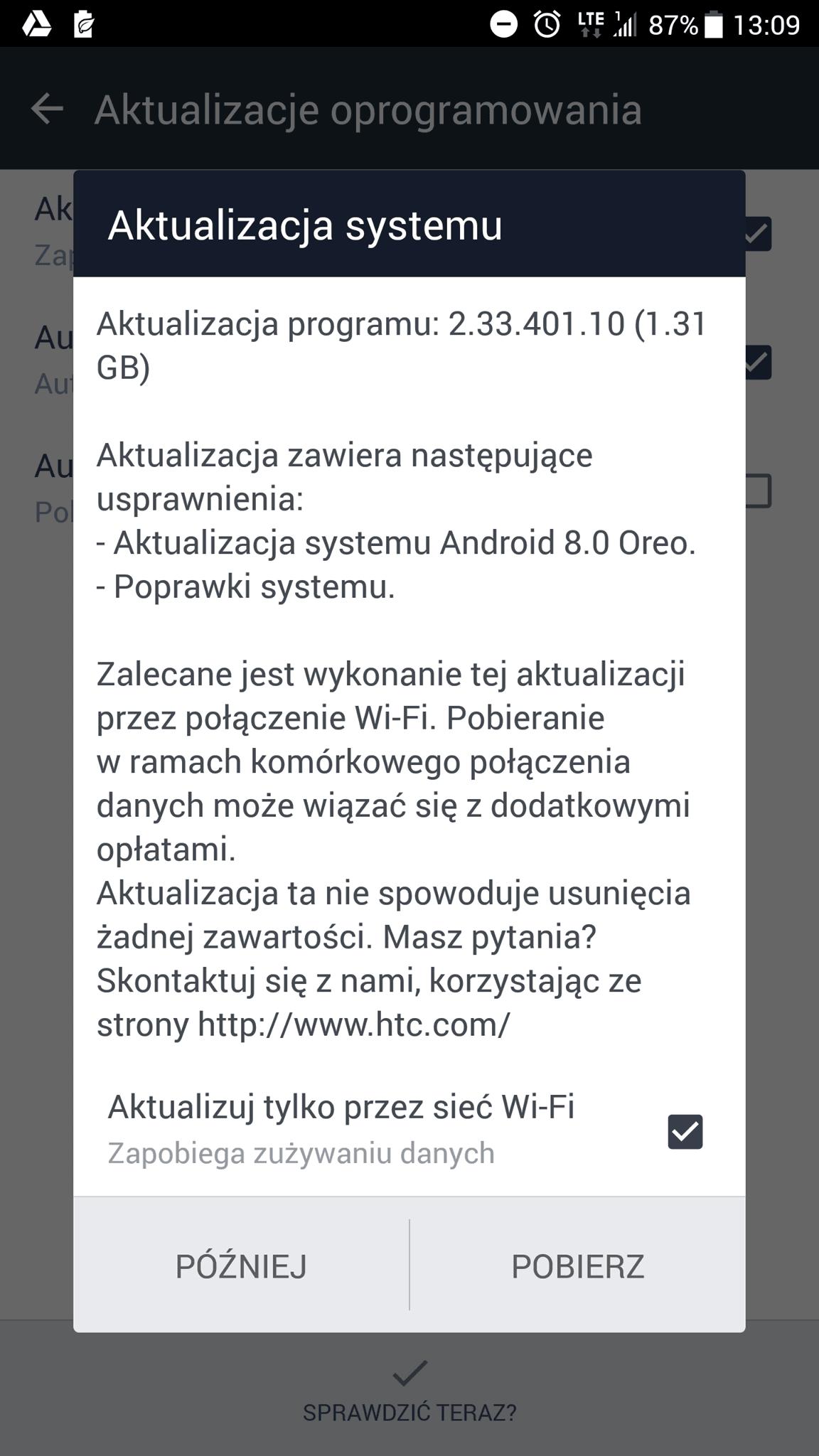 Miała być wcześniej, ale jest dopiero teraz - HTC U11 otrzymuje aktualizację do Androida 8.0 Oreo
