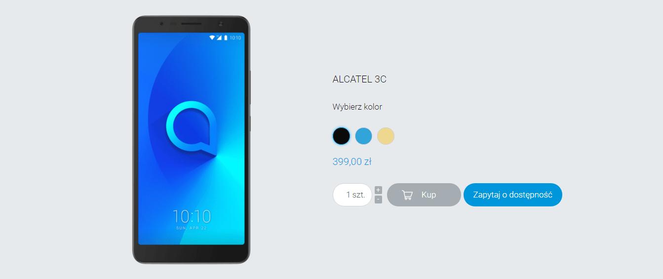 Tabletowo.pl Wkrótce w Polsce ruszy sprzedaż modelu Alcatel 3C. Znamy cenę Alcatel Android Smartfony