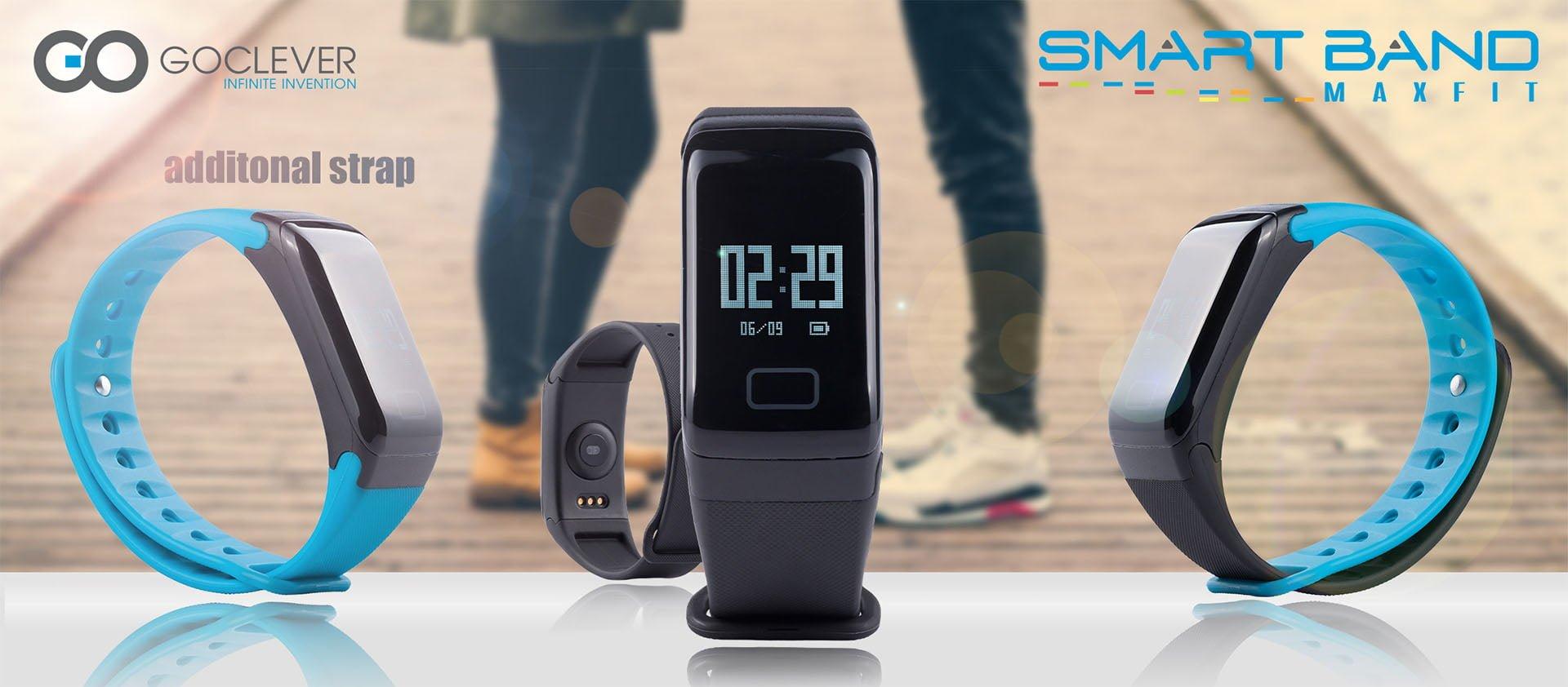 Tabletowo.pl GoClever Smart Band MAX FIT to tania, ale oferująca wiele przydatnych funkcji opaska fitness GOCLEVER Nowości Wearable