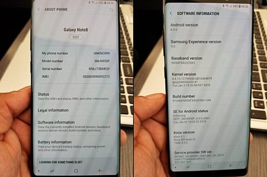 Tabletowo.pl Legenda głosi, że Android Oreo dla Galaxy S8 i Galaxy Note 8 nadejdzie już niebawem Android Samsung Smartfony