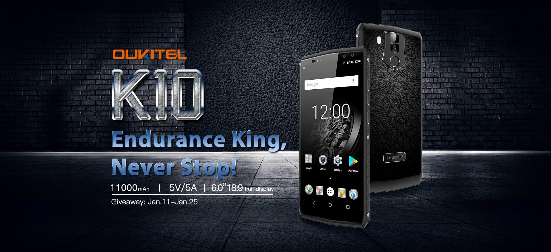 Tabletowo.pl Oukitel K10 z baterią 11000 mAh niebawem w przedsprzedaży. Z tej okazji: giveaway i kupon zniżkowy Chińskie Smartfony