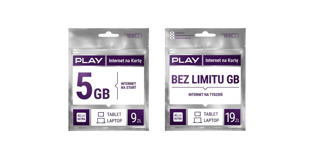 Tabletowo.pl Play od dziś daje więcej gigabajtów po doładowaniu w ofercie Play Internet na Kartę GSM Nowości