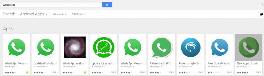 Tabletowo.pl Oszustwa w sklepie Google Play na przykładzie aplikacji podszywających się pod WhatsApp Aplikacje Bezpieczeństwo