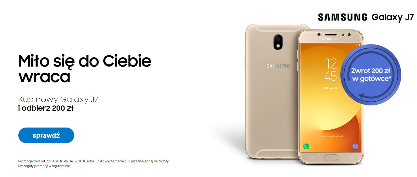 Tabletowo.pl Promocja: jak kupisz Galaxy J7 2017, to Samsung odda Ci 200 złotych w gotówce Android Promocje Samsung Smartfony