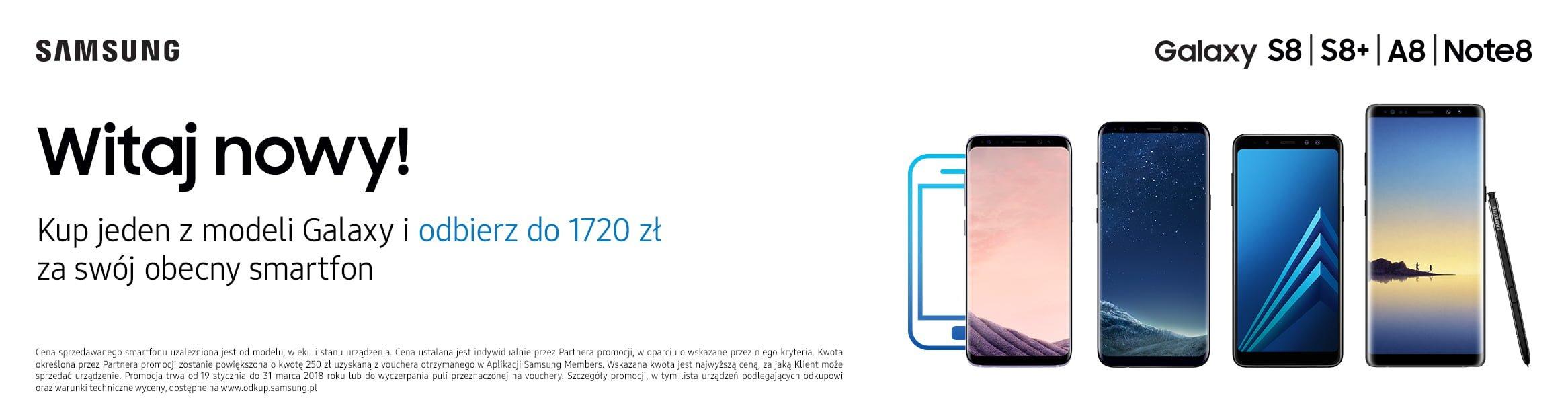 Tabletowo.pl Promocja: kup Galaxy S8, S8+, A8, Note 8 lub Tab S3, oddaj swój stary smartfon i zyskaj nawet 1720 złotych Android Promocje Samsung Smartfony Tablety