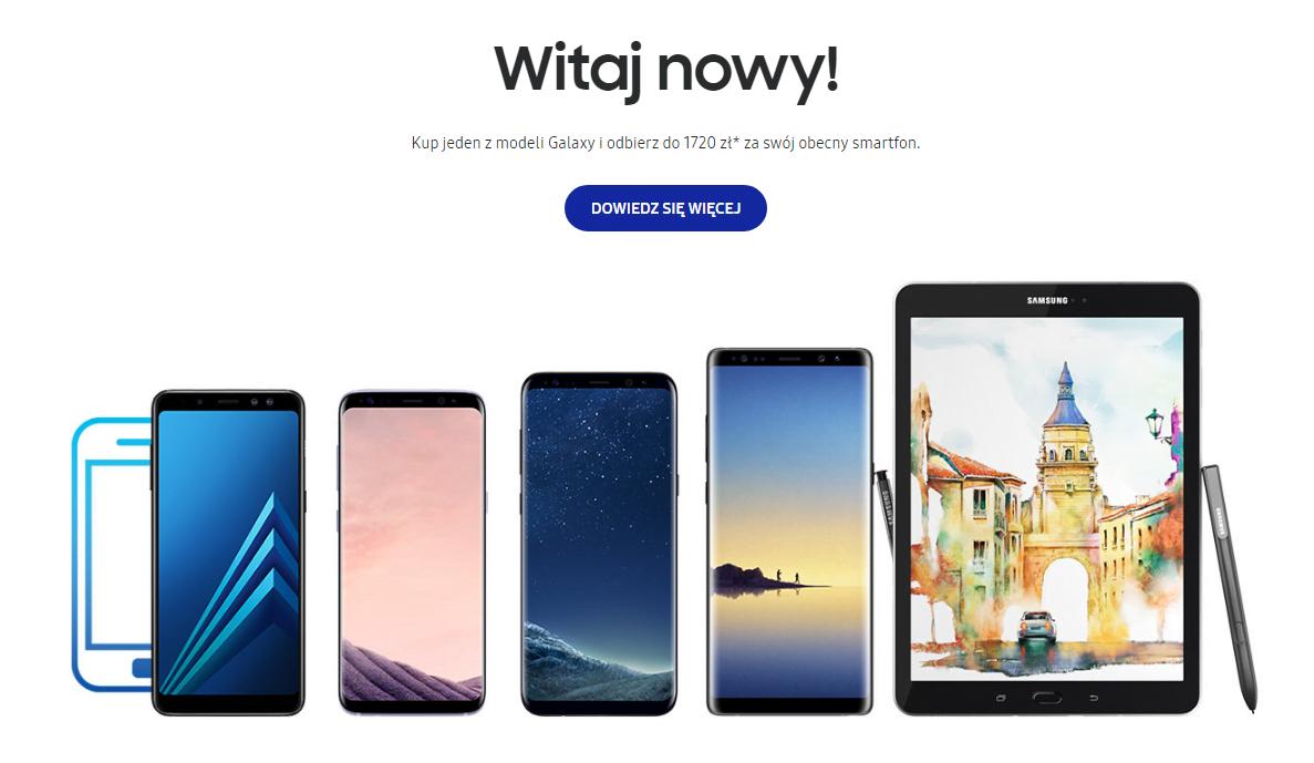 Promocja: kup Galaxy S8, S8+, A8, Note 8 lub Tab S3, oddaj swój stary smartfon i zyskaj nawet 1720 złotych 17