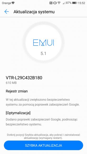Tabletowo.pl Huawei P10 dostaje nową aktualizację, która m.in. wprowadza obsługę VoWiFi Aktualizacje Android Huawei Smartfony