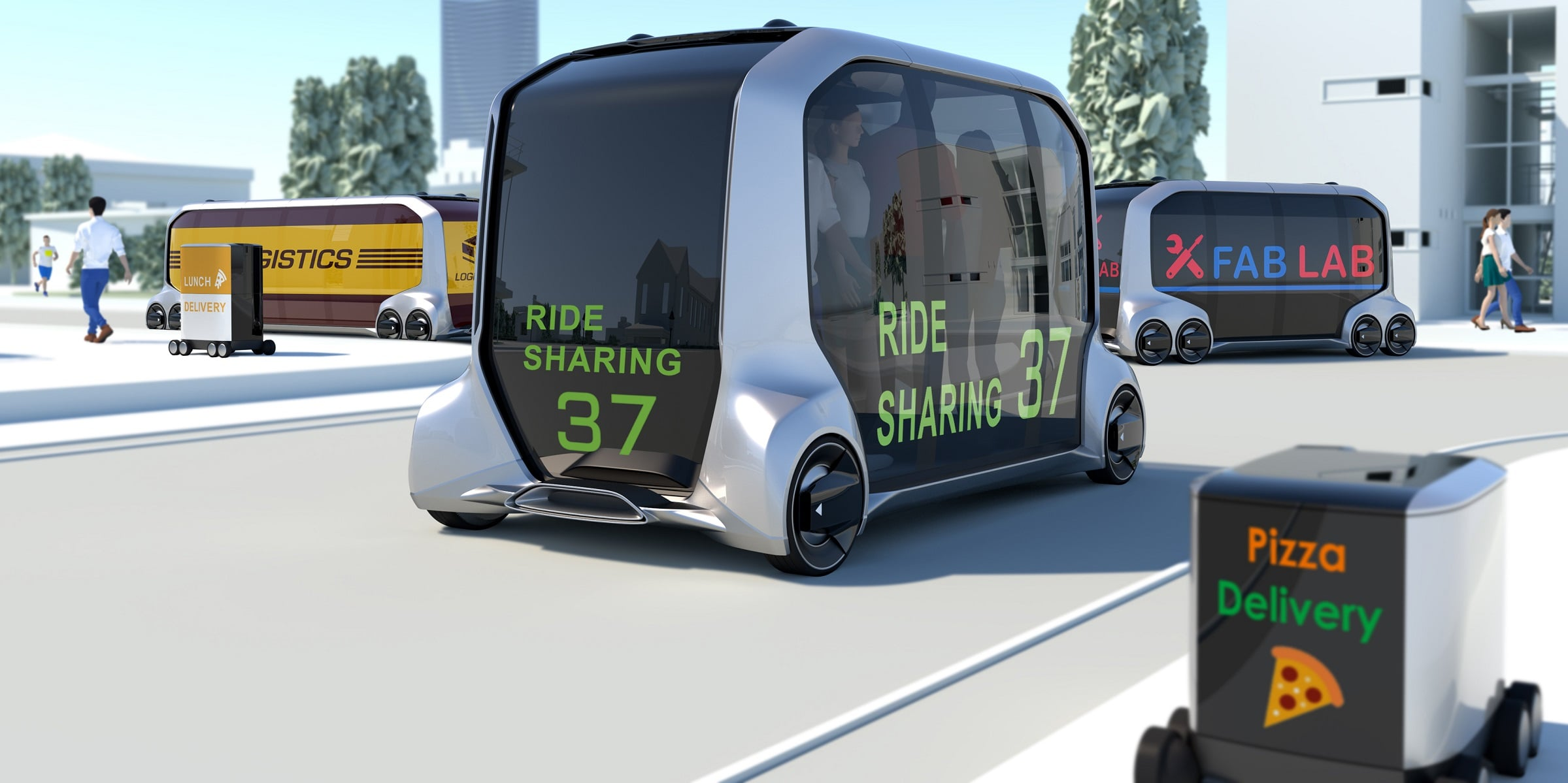 Tabletowo.pl Toyota e-Palette posłuży jako taksówka, przewiezie przesyłkę, a w razie potrzeby... dostarczy też pizzę CES 2018 Moto