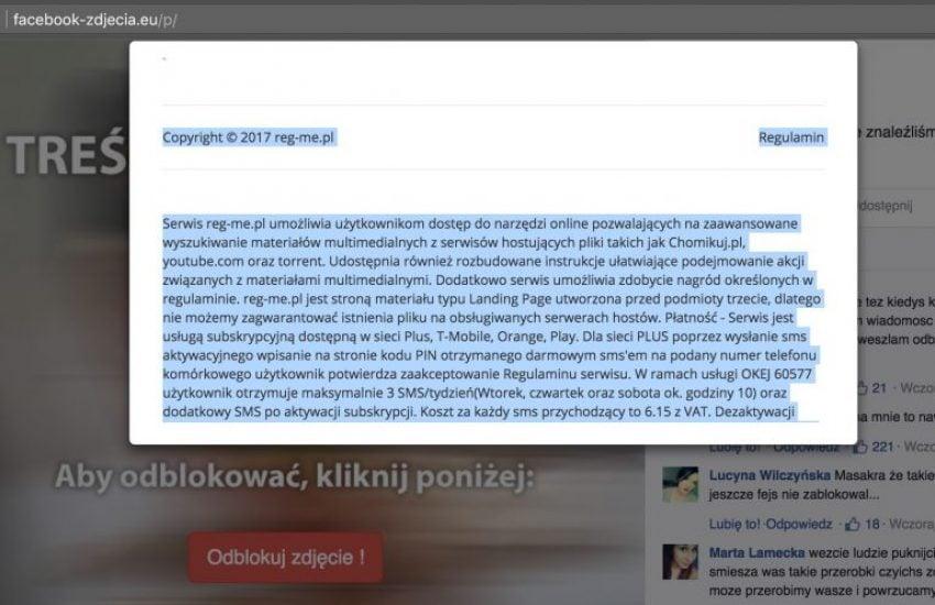 Tabletowo.pl Naciągacze w akcji: możesz dostać wiadomość, że ktoś przerabia twoje zdjęcia z Facebooka Bezpieczeństwo Facebook