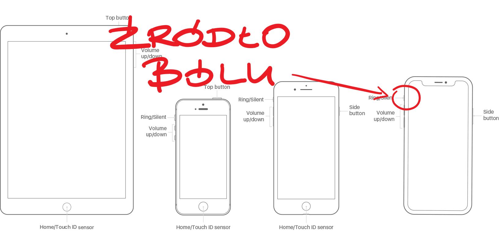 Tabletowo.pl Design iPhone'a X po prostu boli. Ludzie dosłownie tracą włosy z głowy przez przełącznik trybu cichego Apple Humor Smartfony