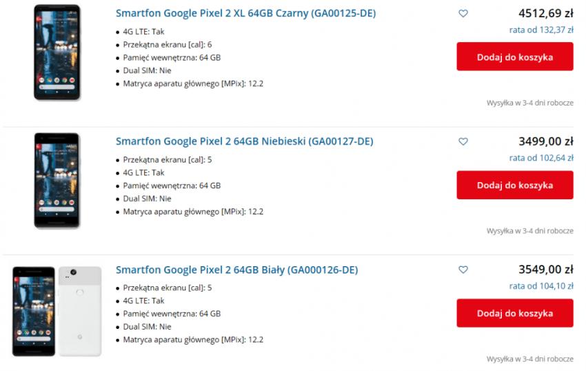 Tabletowo.pl Google Pixel 2 XL w kolejnym polskim sklepie. Nie jest to jednak zapowiedź oficjalnej dystrybucji Google Nowości Smartfony