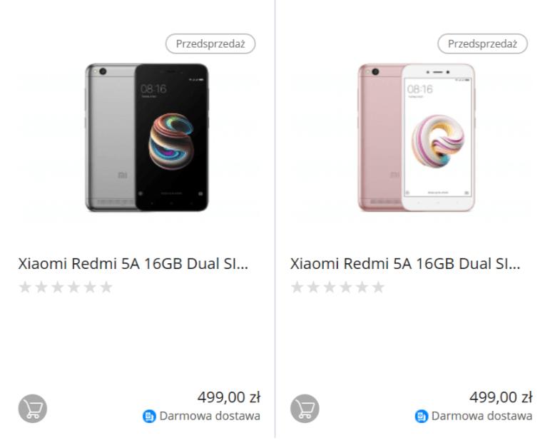 Tabletowo.pl W Polsce można już zamawiać Xiaomi Mi A1 32 GB i Xiaomi Redmi 5A. Chyba lepiej poczekać, aż stanieją Smartfony Xiaomi