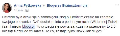 Tabletowo.pl Serwis bloog.pl zostanie zamknięty 31 marca 2018 roku Social Media Wydarzenia