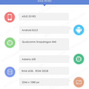 Tabletowo.pl Asus szykuje flagowca ze Snapdragonem 845 i ekranem z wcięciem, jak w iPhone X Android Asus Plotki / Przecieki Smartfony