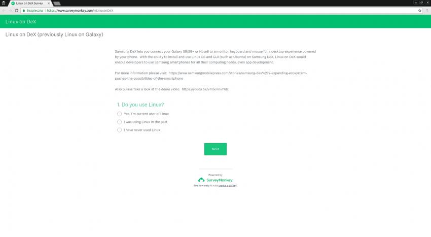 Tabletowo.pl Samsung prosi o opinię, co użytkownicy sądzą o rozwiązaniu Linux on Galaxy (ankieta) Ciekawostki Linux Samsung Ubuntu