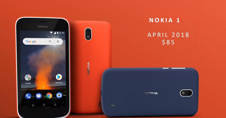 Nokia 1 to kolejny, tani smartfon z podstawową specyfikacją z rodziny Android Go 25